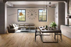 parquet chiaro e mobili abbinamento
